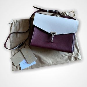 Burberry Two Tone Leather Crossbody Bag
